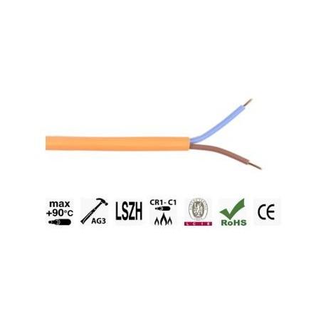 CABLE CR1/C1 ANTI FEU 2X1.5 N/B