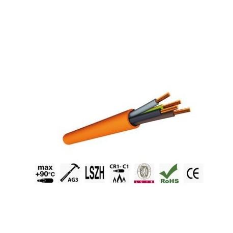 CABLE CR1/C1 ANTI FEU 4G2.5 N/B