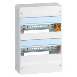 Coffret Drivia 13 modules - 2 rangée - IP30 - IK05 - Blanc RAL 9003