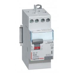 Inter diff DX³-ID - vis/vis - 2P - 230V~ - 40 A -type AC - 30mA -départ haut- 2M