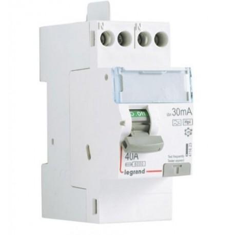 Inter diff DX³-ID - vis/vis - 2P - 230V~ - 40A -type Hpi - 30mA -départ haut- 2M