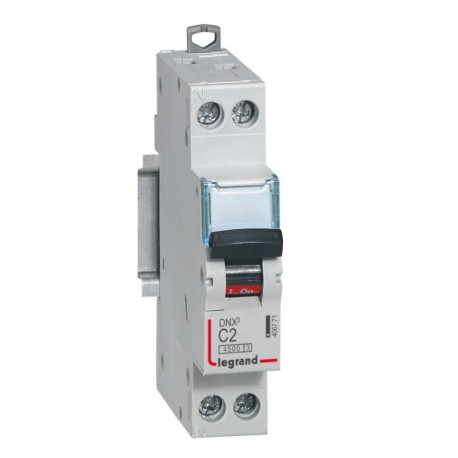Disjoncteur DNX³ 4500 - vis/vis - U+N 230V~ 2A - 4,5kA - courbe C - 1 mod