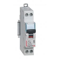 Disjoncteur DNX³ 4500 - vis/vis - U+N 230V~ 16A - 4,5kA - courbe C - 1 mod