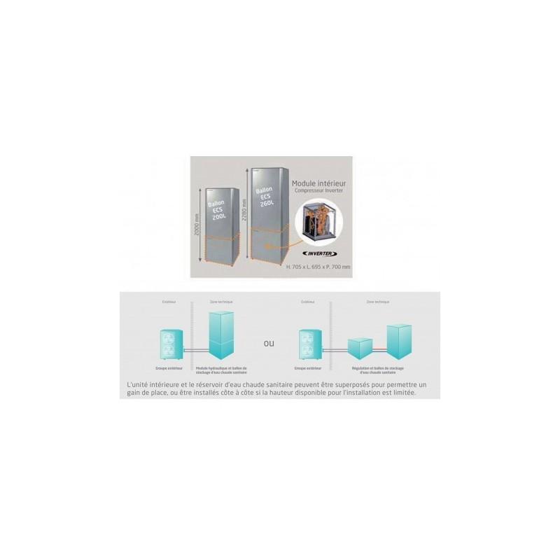 ballon d 39 eau chaude sanitaire 200l altherma haute. Black Bedroom Furniture Sets. Home Design Ideas