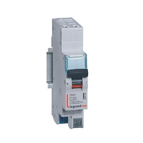 Disjoncteur DNX³ 4500 - auto/auto - U+N 230V~ 20A - 4,5kA - courbe C - 1 mod